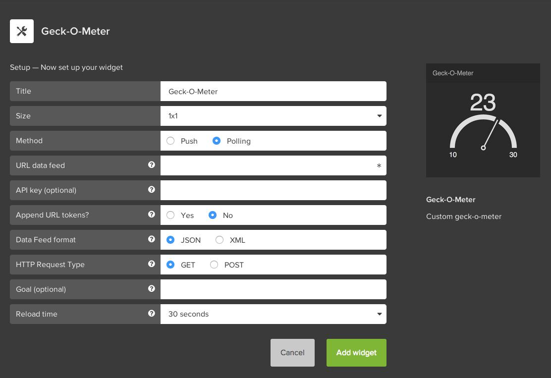 Geckoboard API Docs